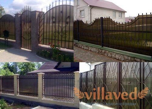 Забор из метала и поликарбоната