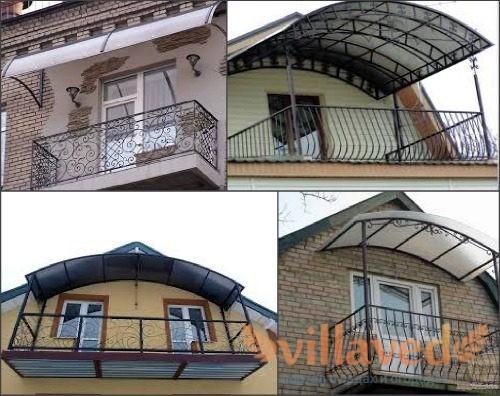 Козырек для балкона из поликарбоната