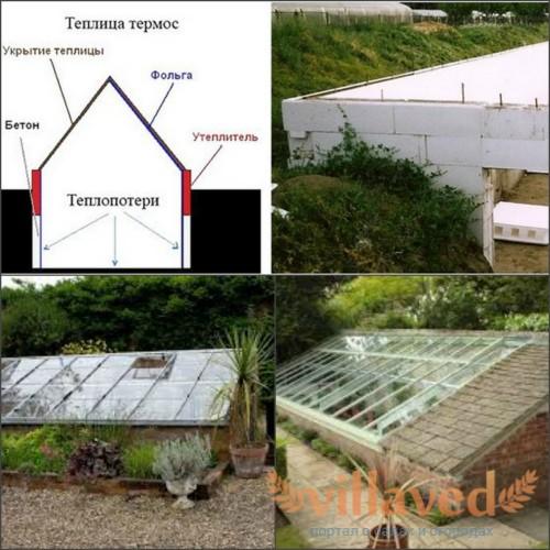 Как построить теплицу термос