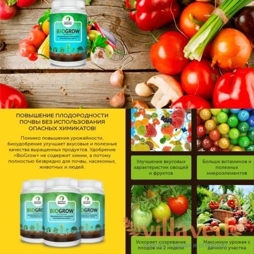 Удобрение Biogrow использование