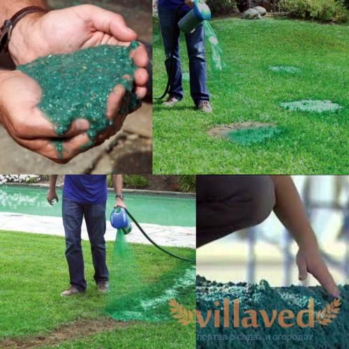 Гидропосев газона как пользоваться