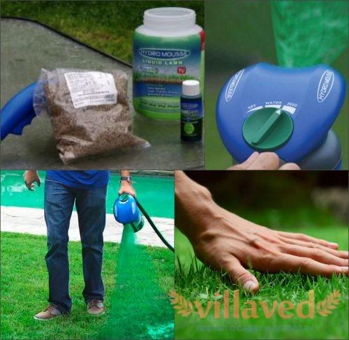 Технология гидропосева газона