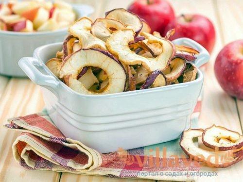 Сушеные яблоки хранение
