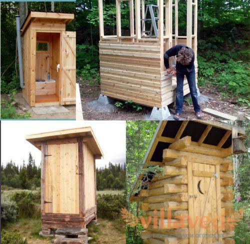 Чем обшить туалетный домик