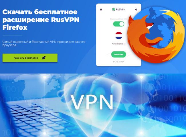 Расширение VPN для Mozilla
